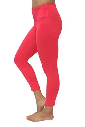 90 Degree By Reflex Yoga Capris - Yoga Capris for Women - Hidden Pocket-Cereza-XS by 90 Degree By Reflex (Image #1)