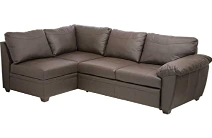 Fernando Leather Left Hand Sofa Bed Corner Group: Amazon.co ...