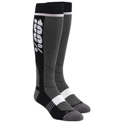 100% Unisex-Adult Hi Side 8'' Mid-Calf Riding Socks (Black,Large/X-Large)