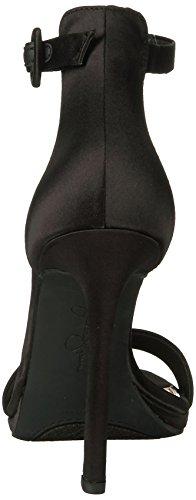 Jessica Simpson Women's Plemy Heeled Sandal, Acai Black Satin