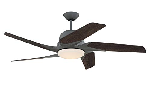 Indoor Ceiling Fans 1 Light Fixtures with Aged Galanized Finish Silicon Steel Material LED 15