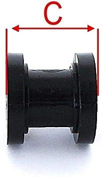10 mm VK Parts 3700944427983 Rotella di catena Teflon guida colore: Rosso
