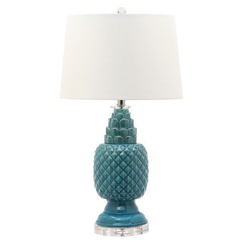 - Safavieh Lighting Collection Blakely Blue Table Lamp (Set of 2), 28