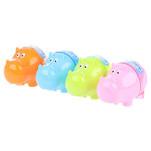 UJuly Mini Pencil Sharpener for Kids with Cover Hippo Shape Stationery Supplies