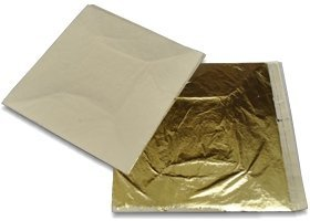 Imitation Gold(100) Imitation Silver(100) Genuine Copper(100) Total EN: 300 Leaf Sheets 14 X 14 Cm