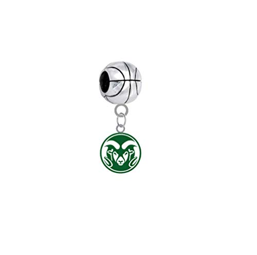 Colorado State Rams Basketball 3D Universal European Bracelet -