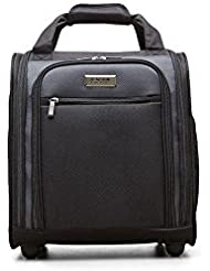 Kenneth Cole Reaction 1200d Polyester 2-Wheel Underseater/Carry on, Black