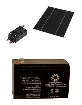 - SolarSynthesis 6-Watt 12-Volt Monocrystalline Solar Starter Kit with 6-Watt Solar Panel + 5A PWM Charge Controller + 7Ah 12-Volt (84-Watt) Solar Rechargeable Battery (6-Watt Panel / 84-Watt Battery)