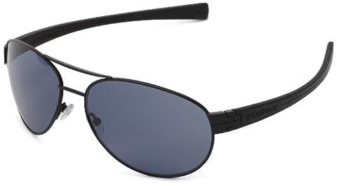 Tag Heuer LRS 253 401 Polarized Aviator Sunglasses,Black,62 mm (Tag Heuer Women Black)