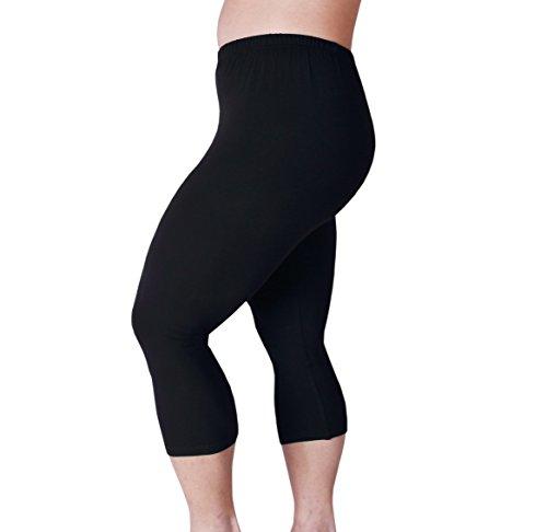 Zerdocean Women's Plus Size Lightweight Printed Capri Leggings style-008 (Lightweight Legging)