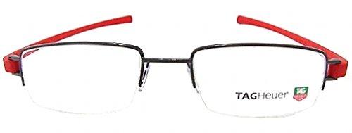 Tag Heuer Track 7205 Eyeglasses 013 Black Ceramic / Red 56 mm