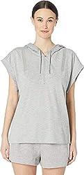 Adidas By Stella Mccartney Women S Hooded Tee Medium Grey Heather Small