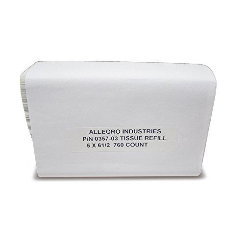 Allegro Industries 0357‐03 Refill Bulk Tissues for 0357//0360 5 x 6-1//2 Pack of 760