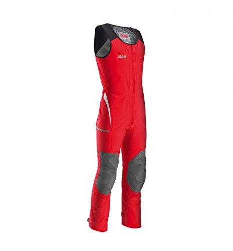 (Slam Man Technical Collection Men's 160gr Nylon TUSSOR Force 3 Long John Wetsuit Col.625 Adjustable Waist and Ankles Closures Red Long John Wetsuit Large)