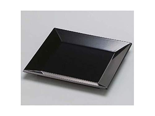 [福井クラフト] 木製7寸正角四方皿 黒漆調塗 B07TW9ZWK2