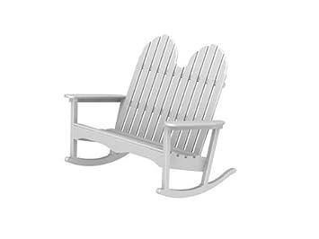 Tremendous Amazon Com Polywood Recycled Plastic Adirondack Double Bralicious Painted Fabric Chair Ideas Braliciousco
