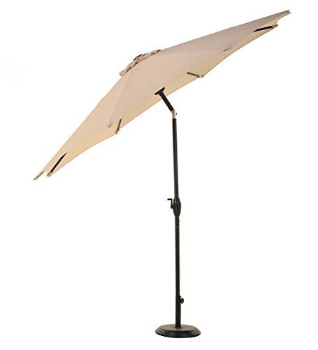 grand patio 9 39 outdoor aluminum market umbrella with auto. Black Bedroom Furniture Sets. Home Design Ideas
