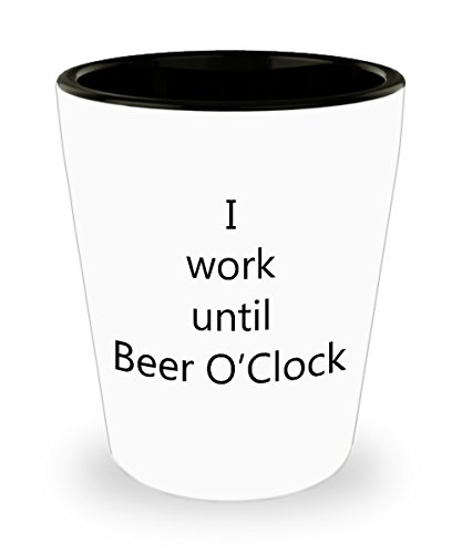 Drinking Quotes Shot Glasses - Beer O'Clock Shot Glass (Jager Bottle Costume)