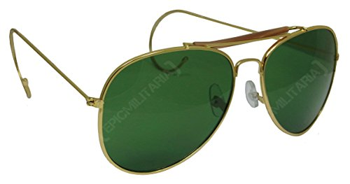 US Pilot Style Aviator Sunglasses with Mirrored, Brown or Green - Us Aviator Force Air Sunglasses