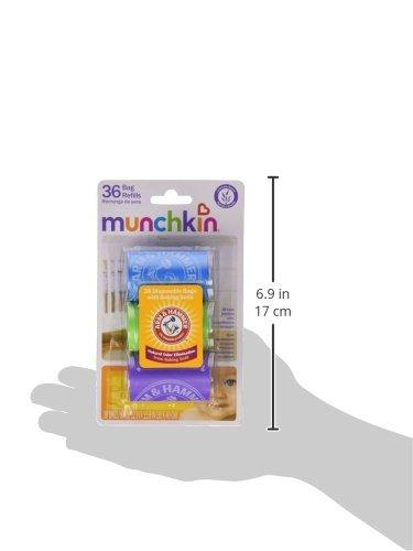 Munchkin Arm and Hammer Diaper Bag Refill, 36 Bags