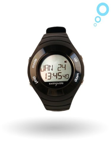 Swimovate Poolmate Heart Rate Monitor Lap Counter Watch, Black