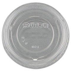 SCCPL4N - Solo No-Slot Plastic Cup Lids, 3.25-9oz Cups, Clear