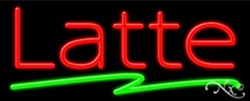 UPC 742230343280, 13x32x3 inches Latte NEON Advertising Window Sign