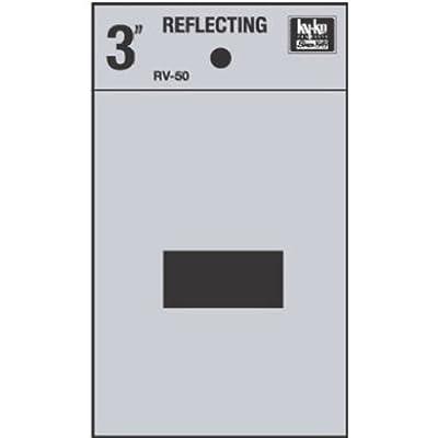 "Hy-Ko RV-50/HYPHEN RV-50/ Vinyl Self-Stick Reflective Hyphen Symbol, 3"", Black: Home Improvement"