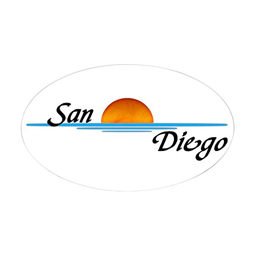CafePress - San Diego Sunset Oval Sticker - Oval Bumper Sticker, Euro Oval Car Decal