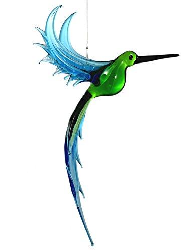 American Made Hanging Glass Figurine Ornament - Exotic Hummingbird