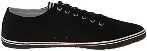 Fred Perry Mens Kingston Twill Mode Sneaker Zwart