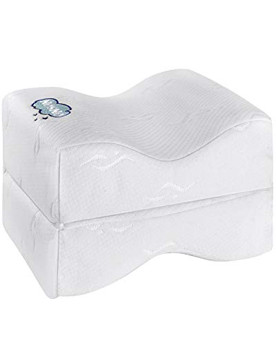 ONSON Orthopedic Knee Pillow,Leg Pillow for Sleeping,Sciatica Relief, Back Pain,Leg Pain,Pregnancy,Hip and Joint Pain-Memory Foam Wedge Contour