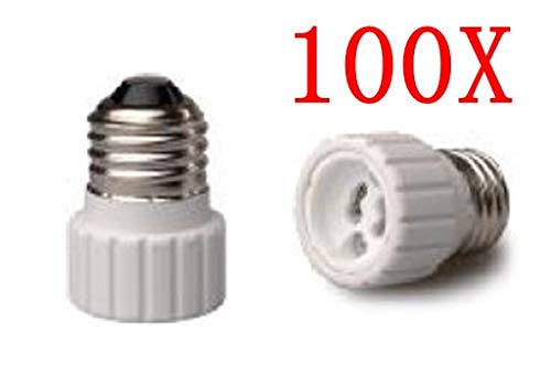 Halica 100pcs E26 TO GZ10 Light Bulb Lamp Holder Socket Adapter Converter With Tracking No.