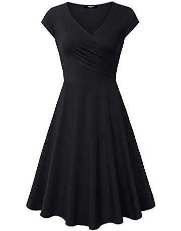 0b4fd50671 Lotusmile Casual Dress,Womens Elegant Dress A Line Cap Sleeve V Neck