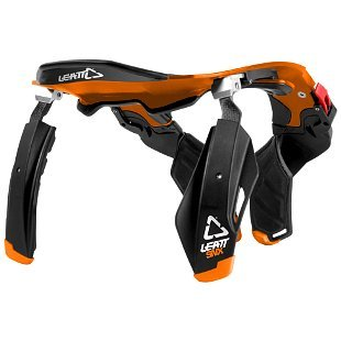 Leatt SNX Trophy Snowmobile Neck Brace Black/Orange L/XL