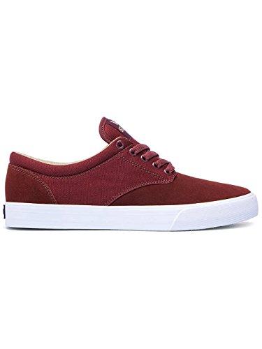 Supra - Zapatillas de skateboarding para hombre rojo - burgundy/white