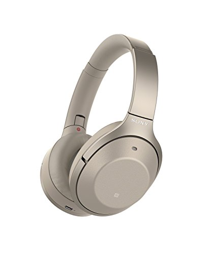 Sony Noise Cancelling Headphones WH1000XM2: Over Ear Wireless Bluetooth Headphones with Case - Gold (Driver Sony)