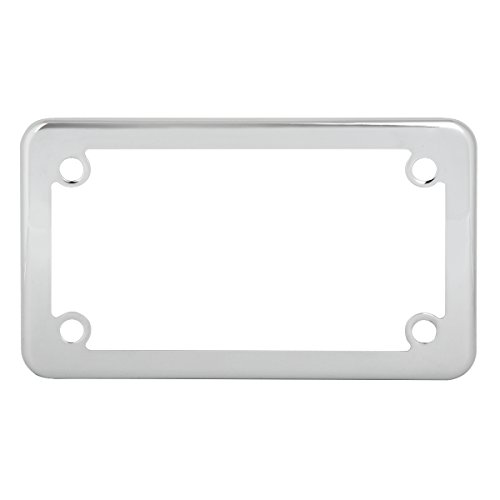 Grand General 60391 Chrome Plain Motorcycle License Plate Frame by Grand General