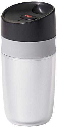 e Serve Mini Travel Mug, Silver- 10 ounce (Small Coffee Mug)
