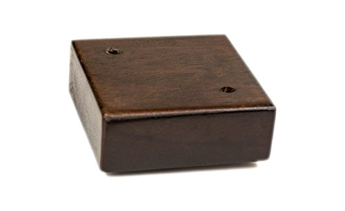 "MJL Furniture Designs Short and Low Wooden Square Furniture Replacement Foot with Cap (Set of 4), Walnut Finish, 1-1/8"" x 2-5/8"" x 2-5/8"""