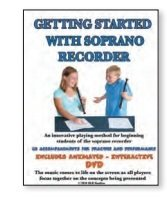 (Rhythm Band Get Started With Soprano Recorder With Dvd/Cd)