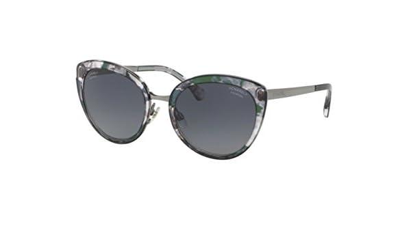 Chanel CH4208 GREEN FLOWER (C464S8) - Gafas de sol: Amazon ...