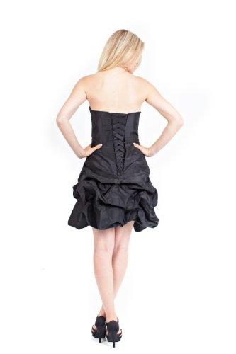 Länge Kleid Taft AvaMia Festliches Abendkleid Cocktailkleid Schwarz knielang FHPq7