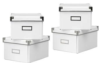 2 x IKEA blanco KASSETT DVD cajas de almacenaje con tapa , 2 unidades - TOTAL