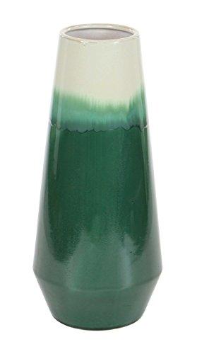 Deco 79 59933 Gradated Green Ceramic Vase 16