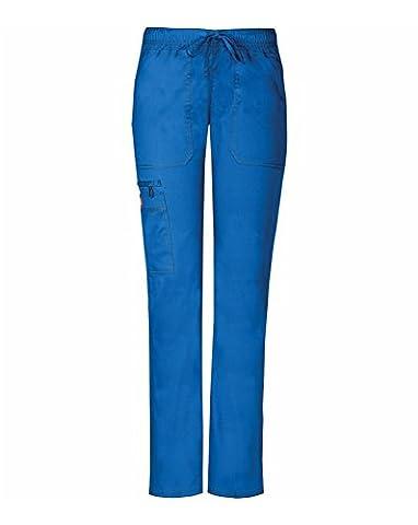Gen Flex By Dickies Women's Low Rise Straight Leg Scrub Pant Large Petite Royal