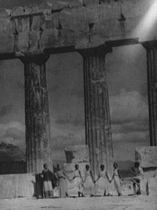 1929 Kanellos dance group at ancient sites in G Black & White Vintage Photo D857