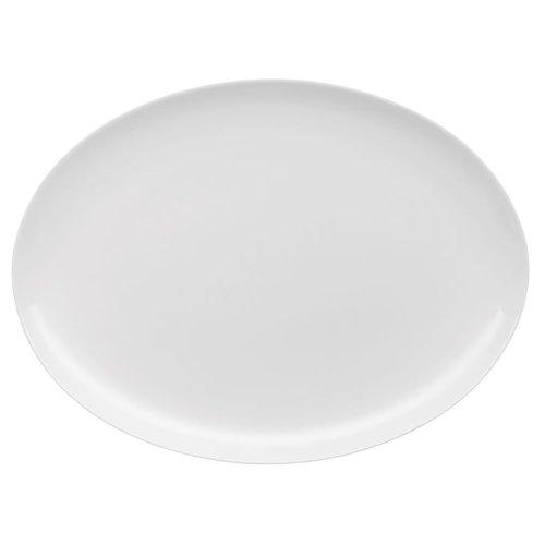 Rosenthal Jade Plate Oval, Serving Dish, Side Plate, Porcelain, White, 30 cm, 61040-800001-12730