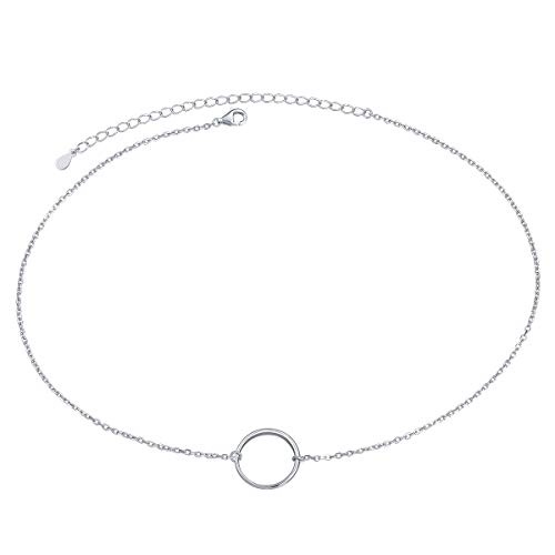 S925 Sterling Silver Dainty Simple Circle Pendant