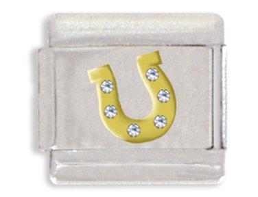 - Horseshoe Italian Charm Bracelet Link